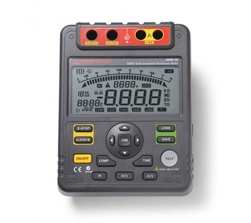 Amprobe AMB-50 Industrial High Voltage Insulation Resistance Tester, 5000V DC Test Voltage, 1 TΩ