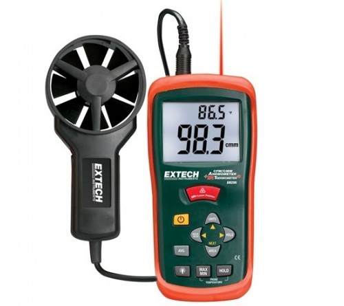 Extech AN200 [AN-200] CFM/CMM Thermo-Anemometer and IR Thermometer