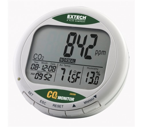 Extech CO200 Desktop Indoor Air Quality CO2 Monitor