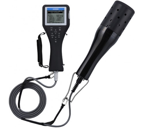 Horiba U-52-10 Multiparameter Meter, LED Turbidity Sensor, 33' (10 m) Cable, 0 to 100 mS/cm Conductivity Range