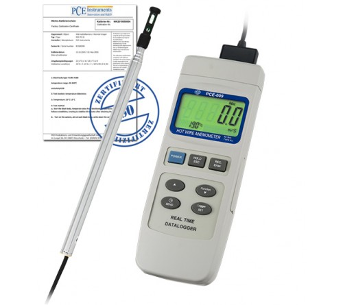 PCE 009-ICA [PCE-009-ICA] Air Flow Meter incl. ISO Calibration Certificate