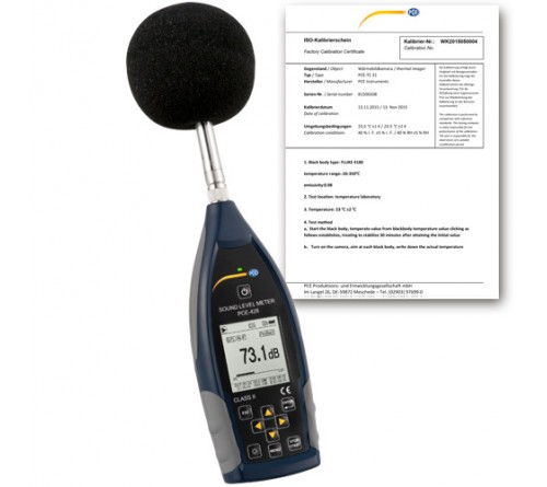 PCE 428 Class 2 Data-Logging Sound Level Meter