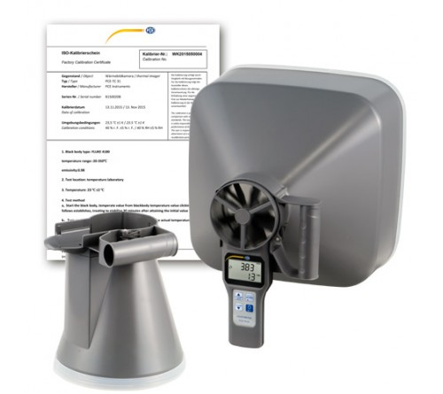 PCE VA 20-SET-ICA [PCE-VA 20-SET-ICA] Multifunction Air Flow Meter Flow Hoods incl. ISO Calibration