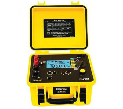 AEMC 6240 10A Micro-Ohmmeter with 5µΩ to 400Ω Measurement Range