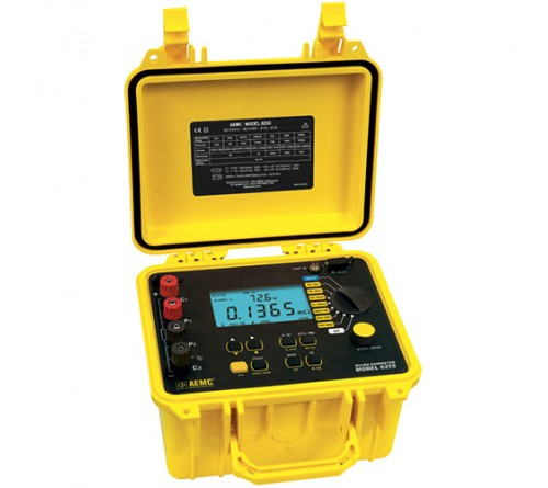 AEMC 6255 Micro-Ohmmeter 10A, Instantaneous, Continuous, Multiple Test, Manual/Auto Temperature Compensation (2129.84)