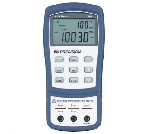 BK Precision 880 40,000 Count Dual Display Handheld LCR Meter, 100 kHz