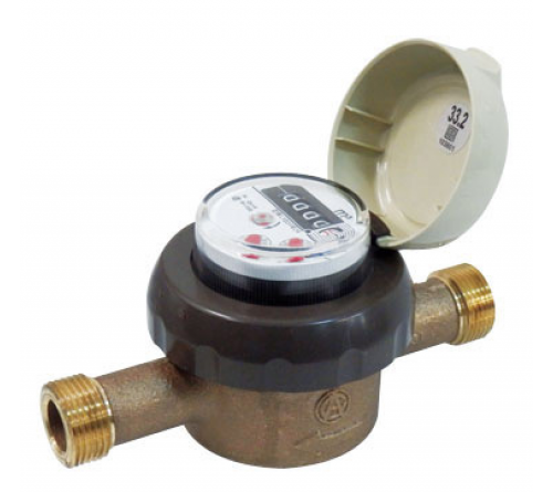 Aichi Tokei Denki SD20[IV] Water Meter, with Gas Pipe Fitting