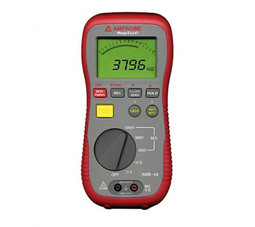 Amprobe AMB-45 Digital Megohmmeter - Insulation Resistance Tester. 1000V DC Max Test Voltage