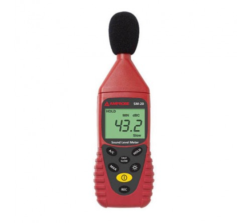 Amprobe SM-20A Sound Level Datalogging Meter, A and C Weightings with USB and PC Software