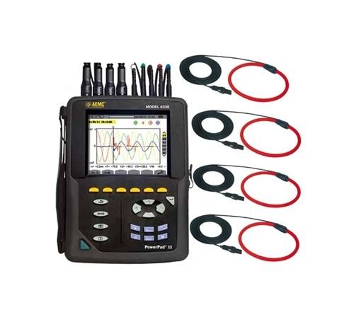 AEMC 8336 W/4 193-24-BK Power Quality Analyzer - Type (Power Quality): 3 Phase, Maximum Voltage AC: 1000 V, Maximum Voltage DC: 1000 V