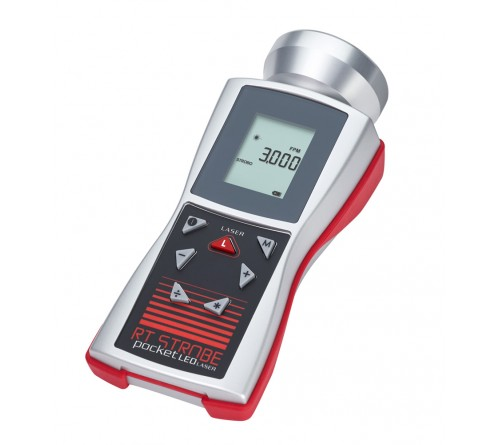 Checkline DS-2000LED-LSR Pocket Laser LED Stroboscope Complete Kit with Laser Tach Mode and Auto-Sync Function