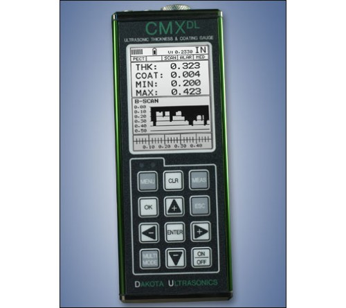 Dakota CMXDL-H Data-Logging Combination Coating & Wall Thickness Gauge with High Temp Transducer, up to 300 °F