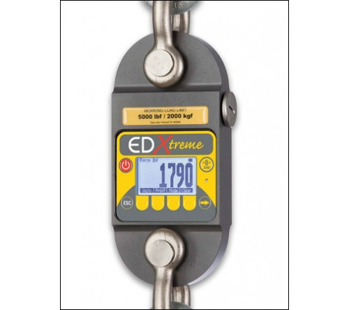 Dillon AWT05-506302 EDx-1T EDxtreme Digital Dynamometer radio ready with two shackles - 2,500 lbs