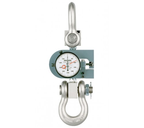 Dillon 30276-0012 X-ST Mechanical Force Guage with Tension Calibration without Maximum Hand - 1,000lb Capacity