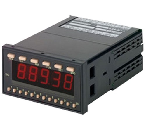 Shimpo DT-5TXR Panel Meter with Output Module Capability, Selectable inputs, 100-240 VAC Power