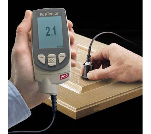 PosiTector 200B (200B3) Coating Thickness Gauge with Advanced Display, Measures Coatings on Wood, Plastics up to 40 mils / 1000 Microns
