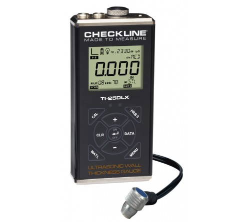 Checkline TI-25DLX [TI25DLX] Data Logging Ultrasonic Wall Thickness Gauge Kit with T-102-3300 Probe
