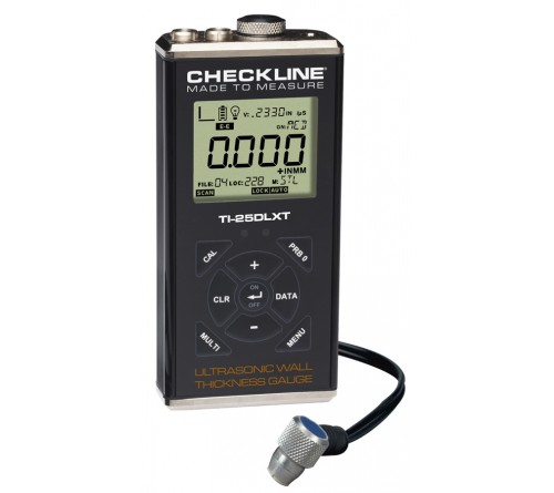 Checkline TI-25DLXT [TI25DLXT] Data Logging Thru-Paint Ultrasonic Thickness Gauge Kit with T-102-2700 Probe