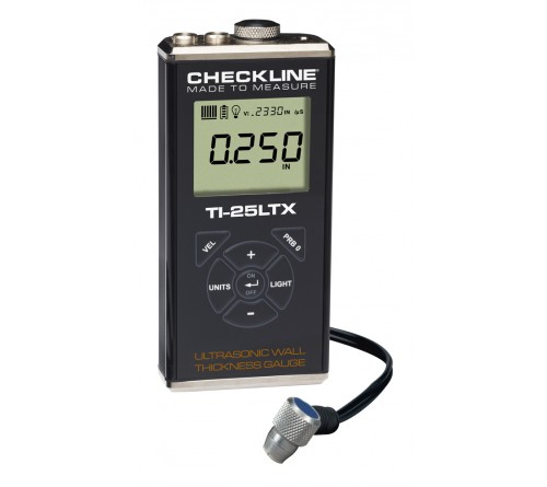 Checkline TI-25LTX Steel Only Ultrasonic Thickness Gauge Kit with T-102-2000 Probe