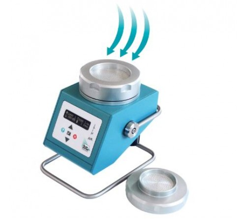 SPIN AIR [90005500] Air sampler for 90mm Petri dishes with carrying case and switching adapter.