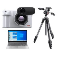 Fotric 226B - Temperature Screening with A.I. Facial Detection; Package with Laptop and Manfrotto Tripod