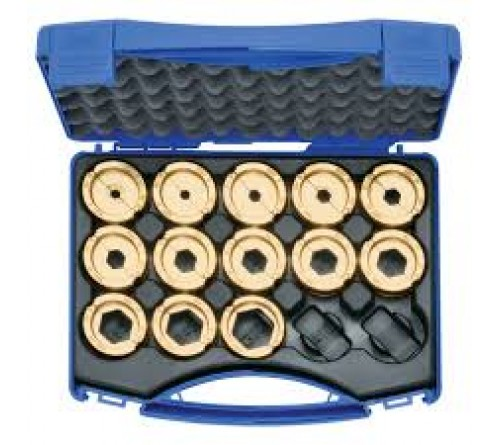 Klauke R22SET Crimping die set, 6 - 300 mm² R 22 in plastic case, 14 pieces