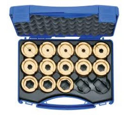 Klauke R22SET Crimping die set, 6 - 300 mm² R 22 in plastic case, 14 pieces