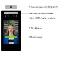 Richtech AATSS-V1A - Automated AI Temperature Screening System, Standalone Version (Desk/Pedestal Mount)