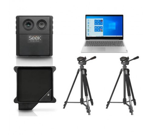Seek Scan Thermal Imaging System for Elevated Temperature; Package with Laptop and Two Tripods