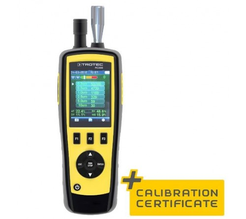 Trotec PC200 [PC-200] Particle Counter Included Calibration Certificate