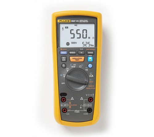 Fluke 1587 FC True-RMS Insulation Resistance Tester and Multimeter with Fluke Connect Compatibility