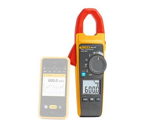Fluke 902 FC Wireless True-RMS HVAC Clamp Meter with Fluke Connect Compatibility, 600V AC/DC