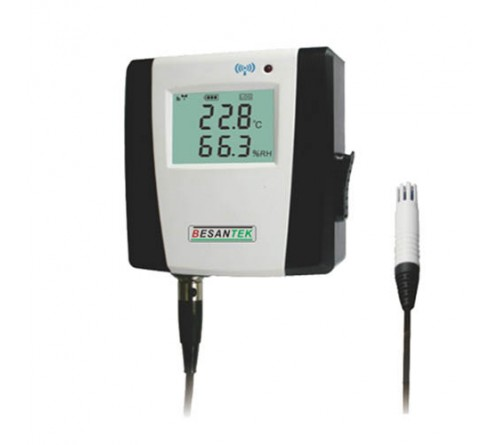 Besantek BST-DL115 Wireless Temperature and Humidity Data Logger with External Probe