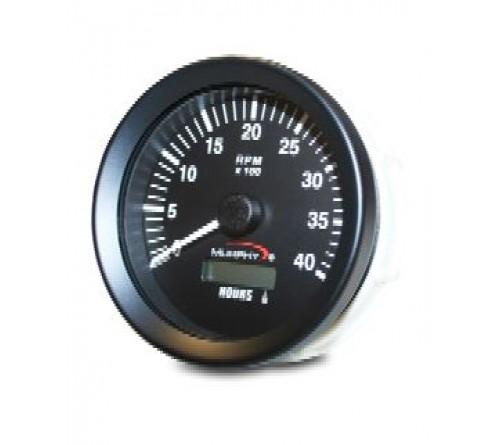 Murphy ATH-40-A (20700254) 12/24 VDC Analog Tachometer/Hourmeter, 4000 rpm