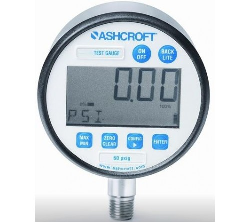 Ashcroft 302089SD02L3000#XB1 Digital Pressure Gauge, 3000 psig, 3 inch, 0.05% Accuracy