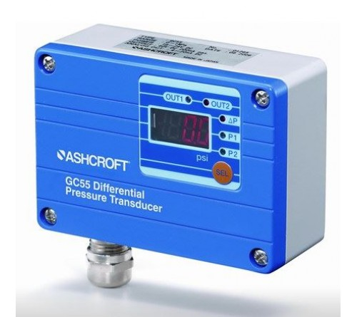 Ashcroft GC55 Wet/Wet Differential Digital Pressure Transducer