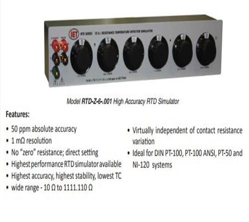 IET Labs RTD-Z-6-0.001 RTD Simulator
