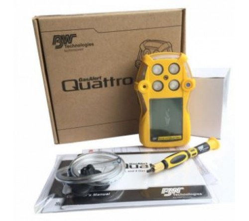 BW QT-XWHM-R-Y-UK GasAlert Quattro LEL(F)O2 H2S CO Gas Detector (Rechargeable Battery)