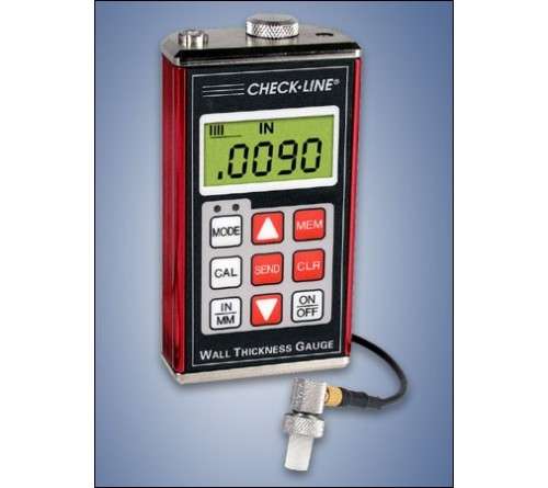 CheckLine TI-007DL High Resolution Datalogging Ultrasonic Wall Thickness Gauge
