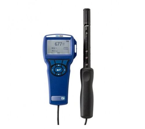 TSI 7575 Q-Trak instrument with model 982 IAQ probe (0-500ppm CO, 0-5000ppm CO2, temperature and humidity)